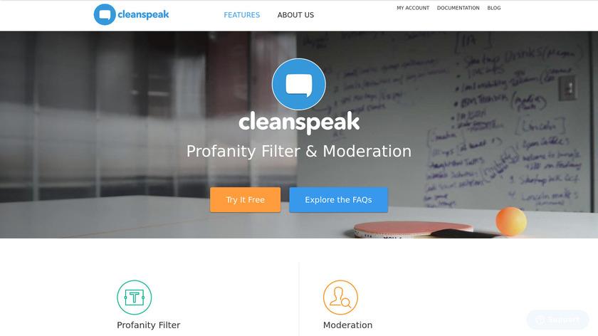 CleanSpeak Landing Page