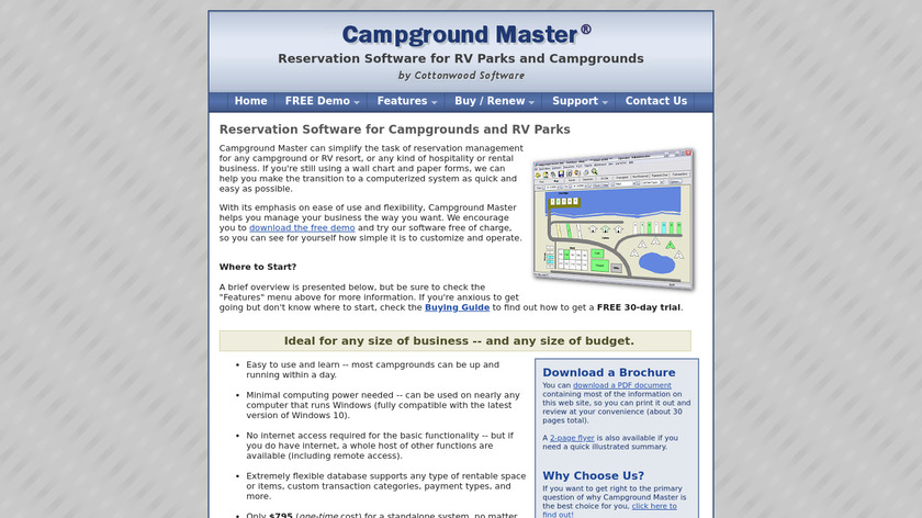 Campground Master Landing Page