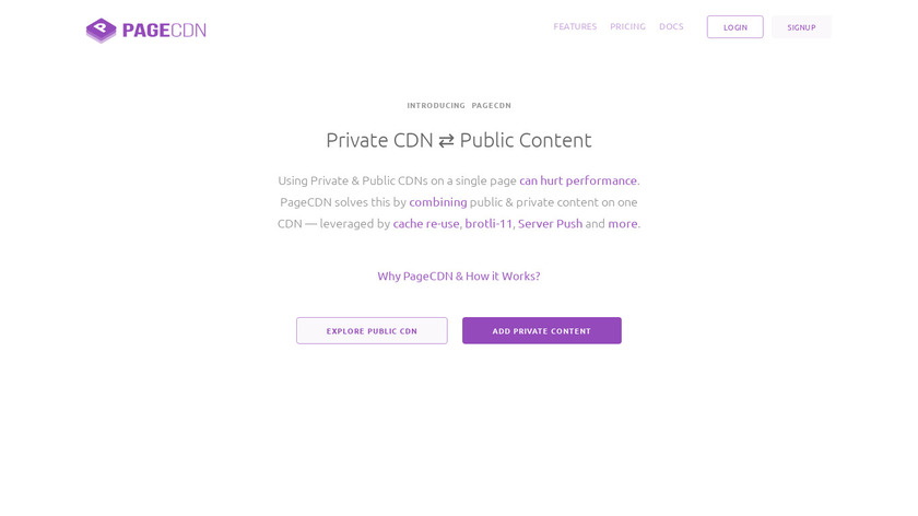 PageCDN Landing Page