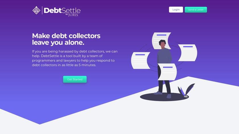 DebtSettle by Juris Landing Page