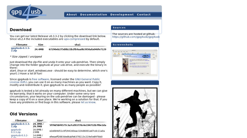 gpg4usb.org gpg4usb Landing Page