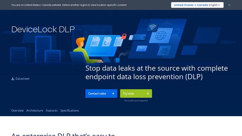 DeviceLock DLP Landing Page