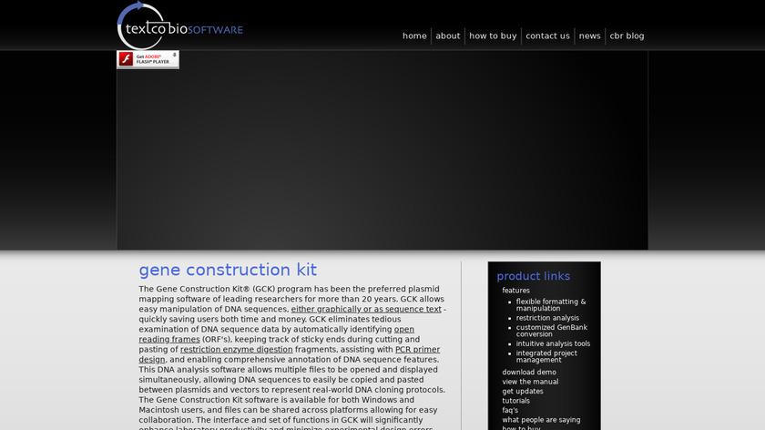 Gene Construction Kit Landing Page