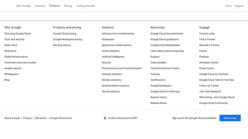 Google Cloud IAM Landing Page