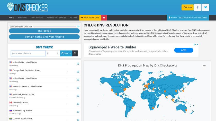 DNSChecker.org Landing Page