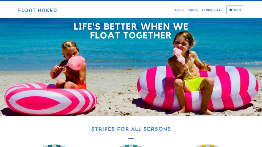 Float Naked Landing Page