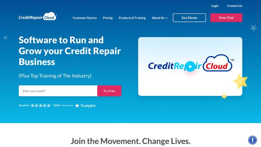 Credit Repair Cloud Landing Page