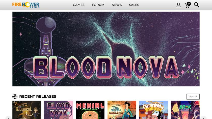 FireFlower Games Landing Page