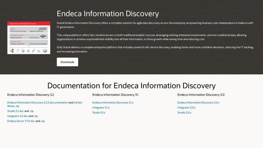 Oracle Endeca Landing Page