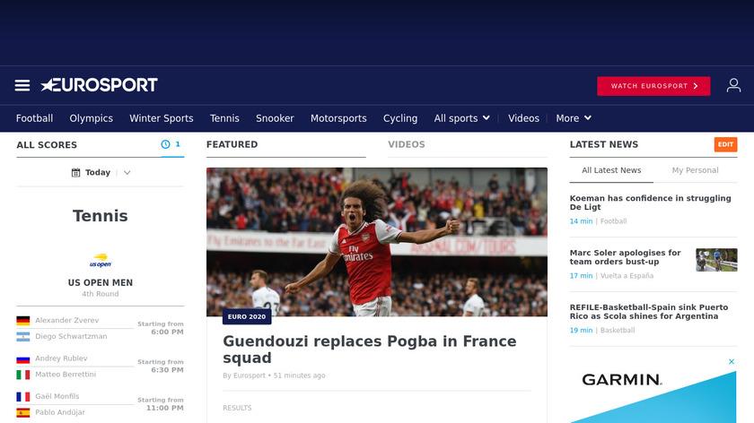 Eurosport Landing Page