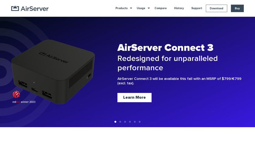 AirServer Landing Page