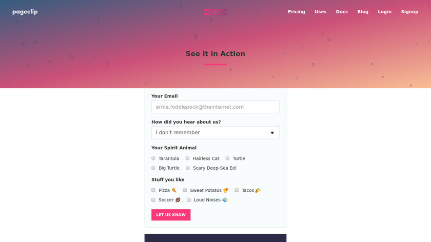 Pageclip Landing Page