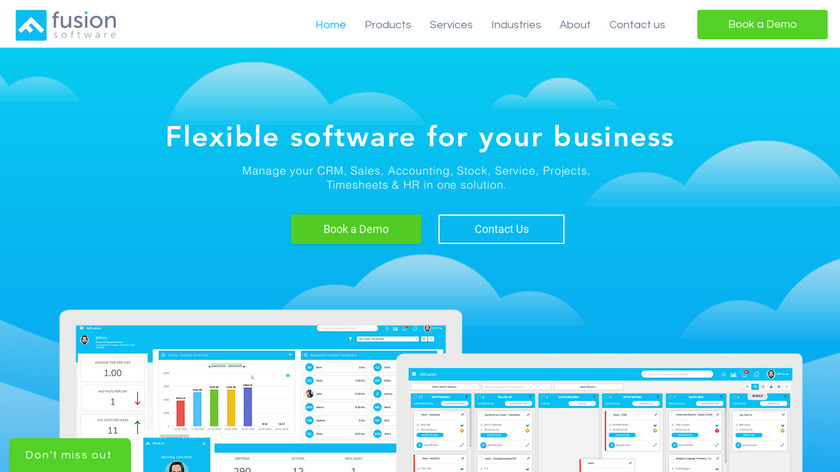 Fusion Software Landing Page