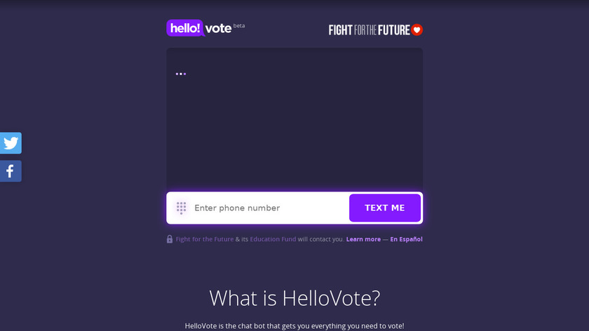 HelloVote Landing Page