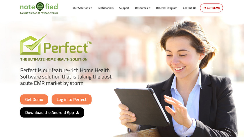noteefied.com Note-e-fied Perfect Landing Page