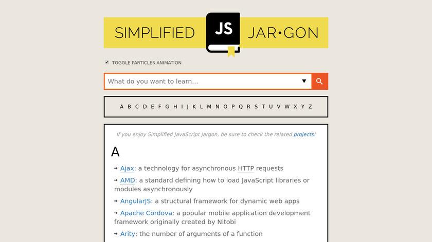 Simplified JavaScript Jargon Landing Page