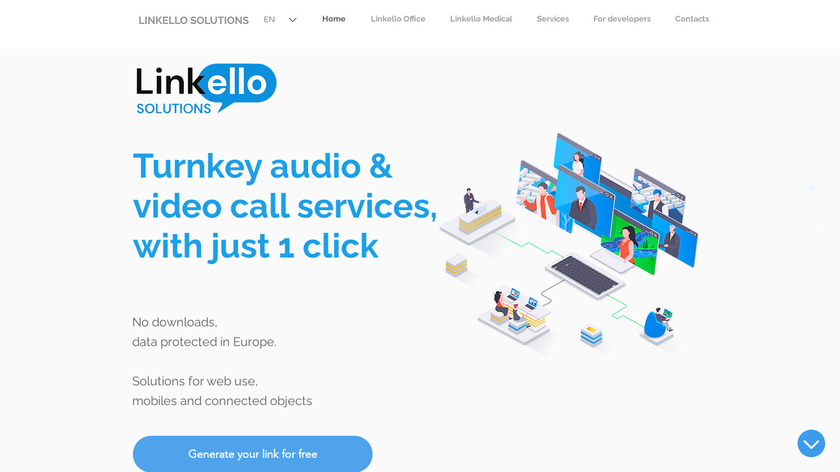 Linkello Landing Page