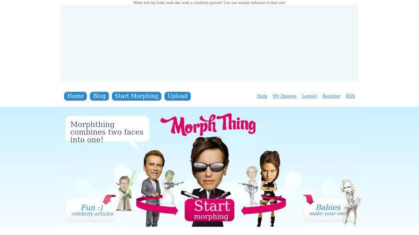 Morph Thing Landing Page