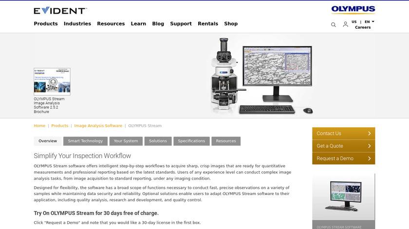 OLYMPUS Stream Landing Page