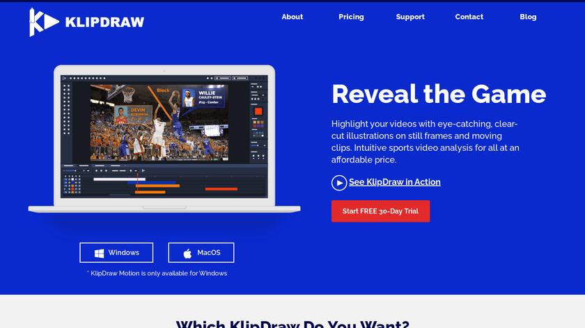 KlipDraw Landing Page