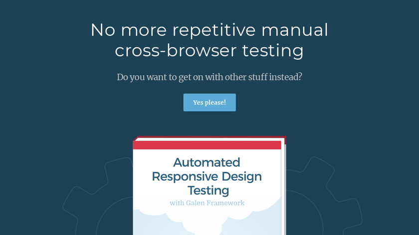Automated Responsive Design Testing Landing Page