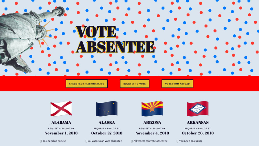 Vote Absentee Landing Page