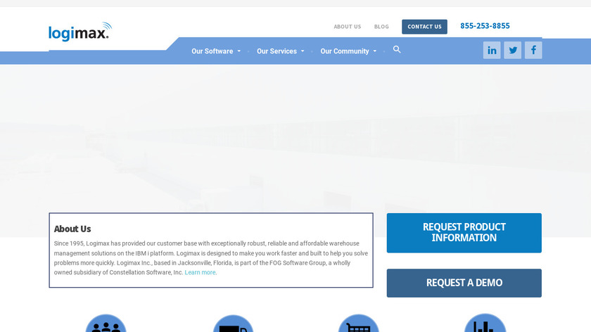 Logimax WMS Landing Page