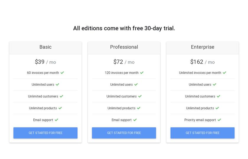 Autoshopinvoice.com Pricing