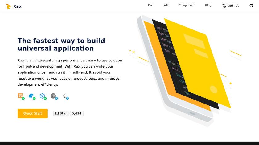 Rax Landing Page