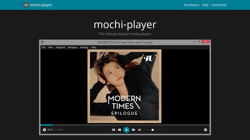 Mochi-Player Landing Page