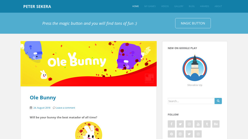 Ole Bunny Landing Page