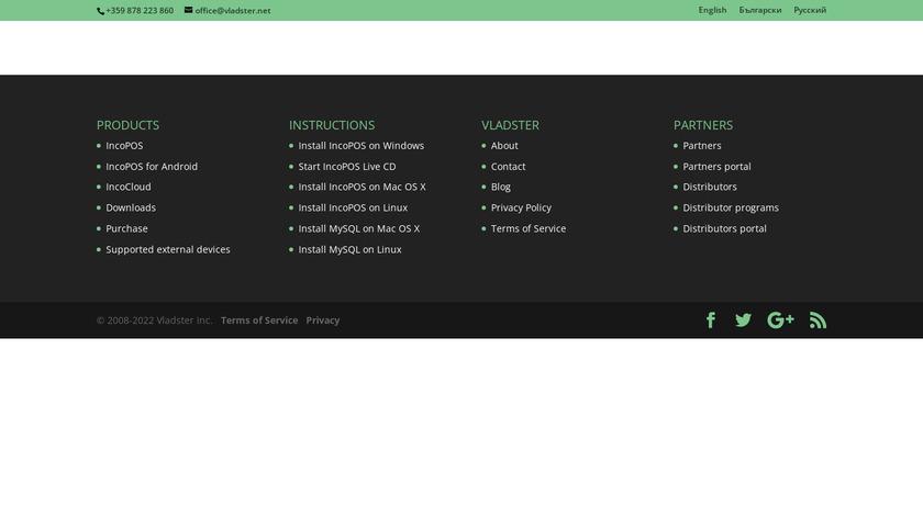IncoPOS Landing Page