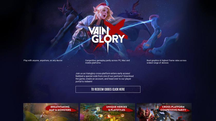 Vainglory Landing Page