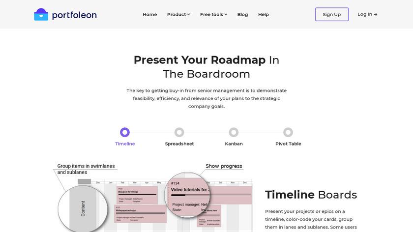 Portfoleon Landing Page