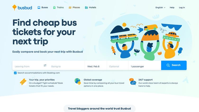 Busbud Landing Page