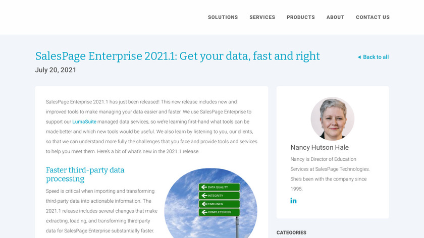 SalesPage Enterprise Landing Page