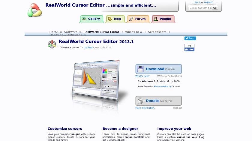 RealWorld Cursor Editor Landing Page