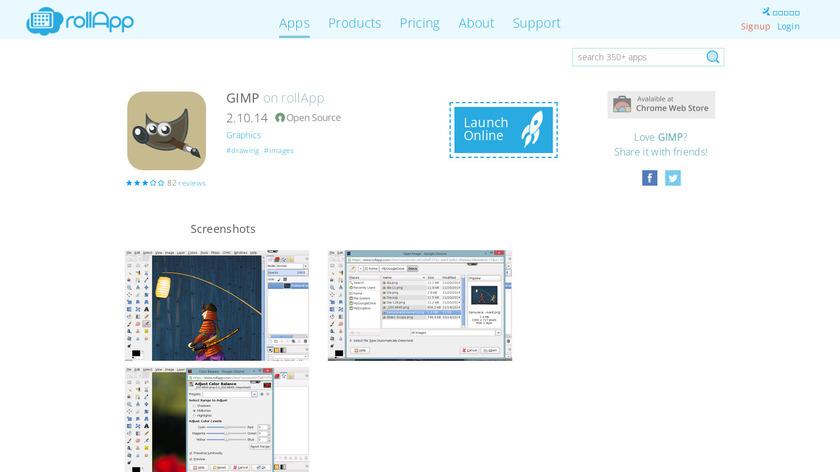 GIMP Online Landing Page