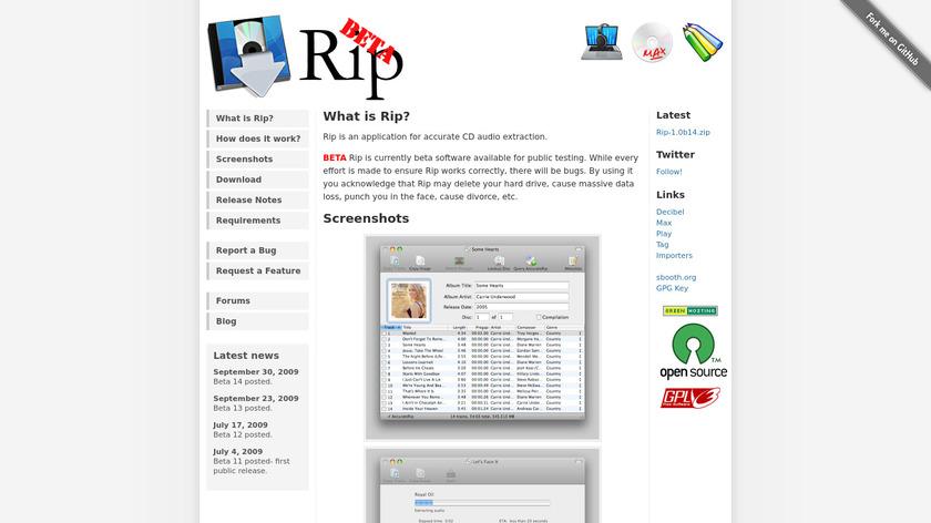 RIP Landing Page