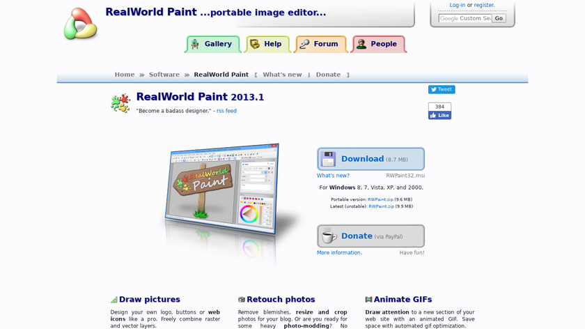 RealWorld Paint Landing Page
