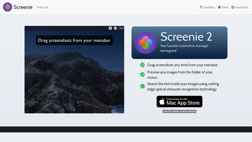 Screenie Landing Page