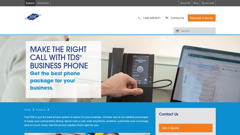 TDS Business VoIP Landing Page
