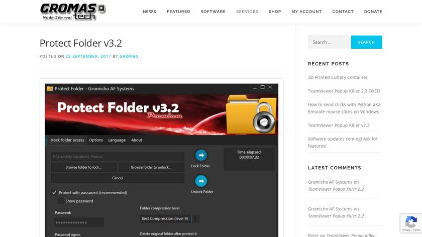 Protect Folder Landing Page