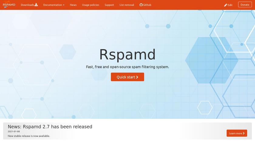 Rspamd Landing Page