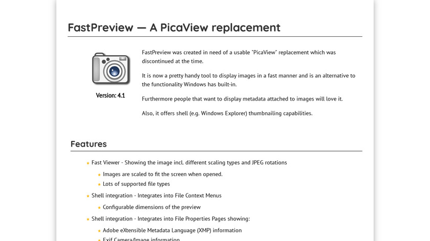 FastPreview Landing Page