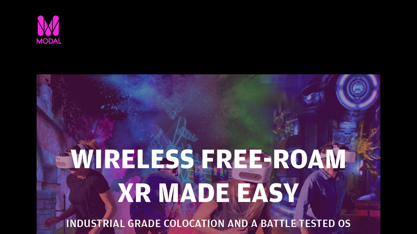 Modal VR Landing Page