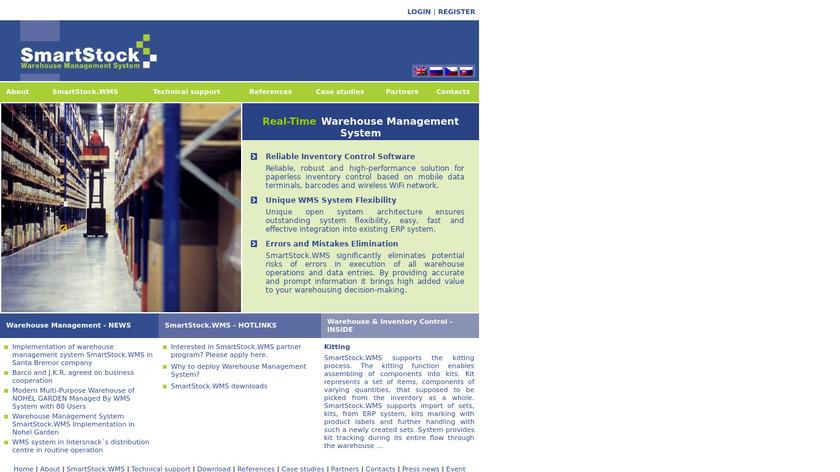 SmartStock.WMS Landing Page