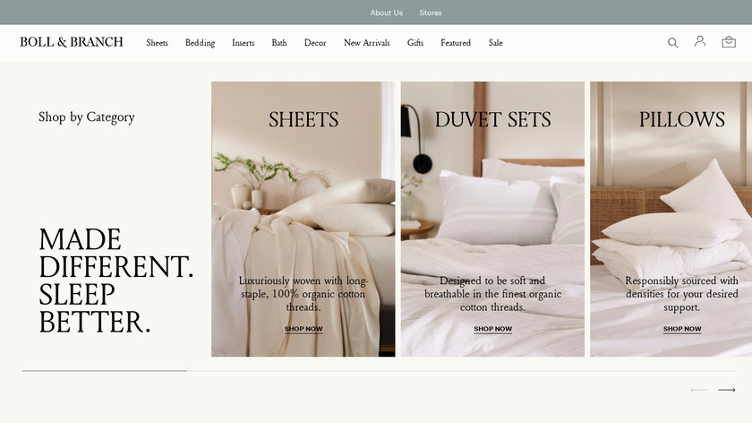 Boll and Branch Landing Page