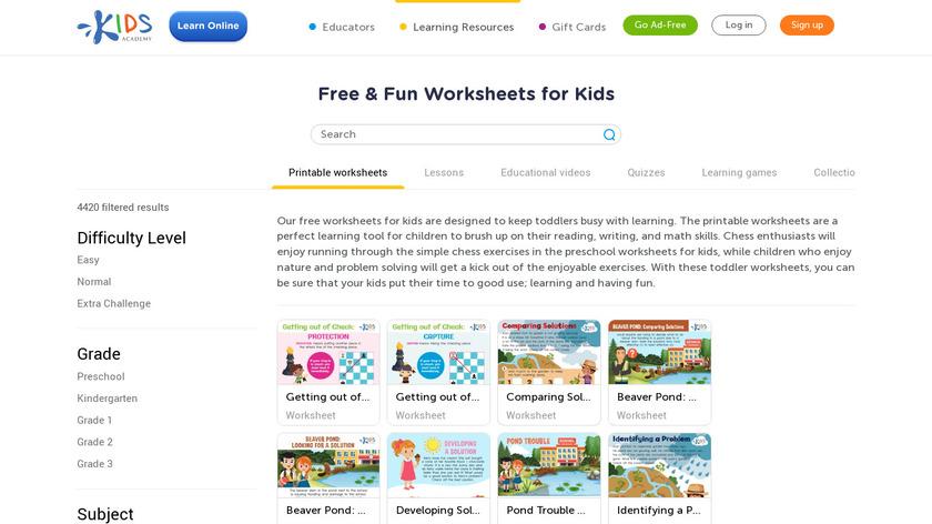 Preschool Games for Kids Landing Page