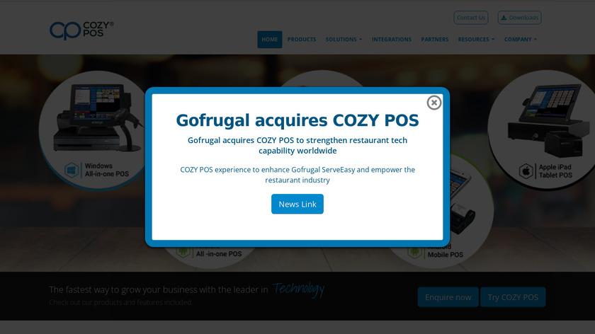 CozyPOS Landing Page